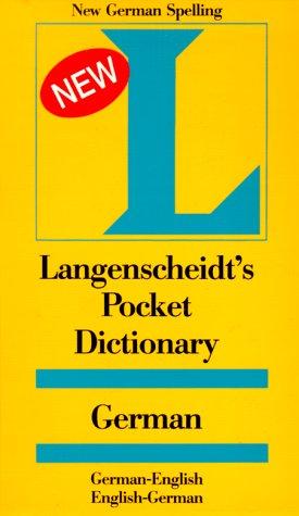 9780887291210: Langenscheidt's Pocket Dictionary German: German-English, English-German (Langenscheidt's Pocket Dictionaries)