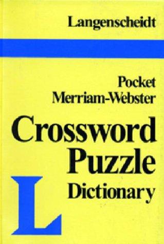 9780887292156: Langenscheidt's Pocket Crossword Puzzle Dictionary