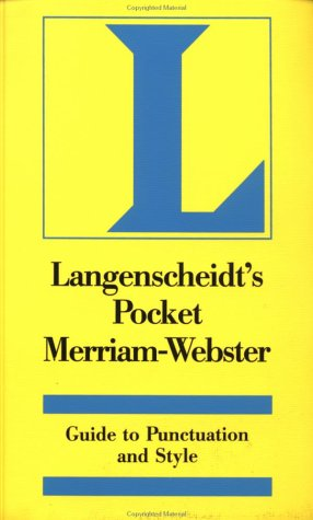 9780887292187: Langenscheidt's Merriam-Webster Pocket Guide to Punctuation and Style (Langenscheidt English Language Reference)