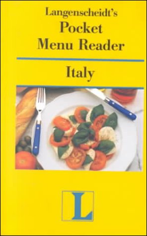 Pocket Menu Reader Italy (Langenscheidt Pocket Menu Reader) (English and Italian Edition) (0887293131) by Langenscheidt
