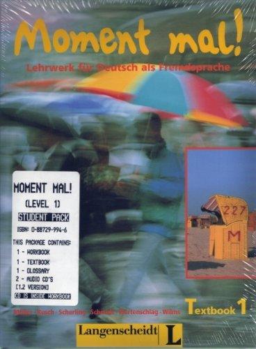 MOMENT MAL! Lehrwerk fuer Deutsch als Fremdsprache: STUDENT PACK 1 (Textbook, Workbook with CD, ...