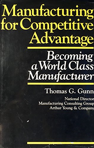 9780887301544: Manufacturing for Competitive Advantage: Becoming a World Class Manufacturer