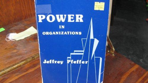 9780887301995: Power in Organizations