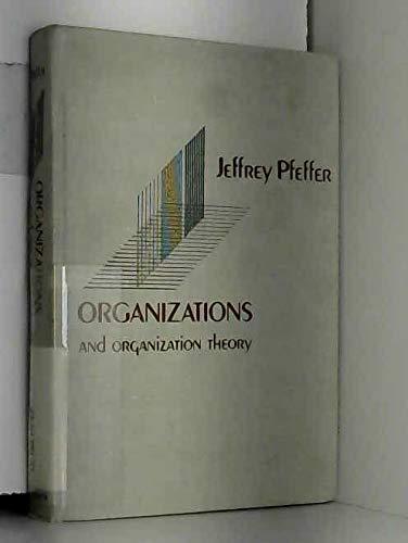 9780887302015: Organizations and Organization Theory