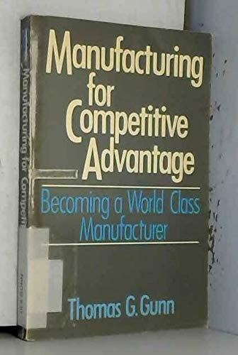 9780887303630: Manufacturing for Competitive Advantage: Becoming a World Class Manufacturer