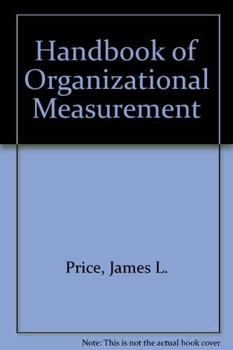 9780887303869: Handbook of Organizational Measurement
