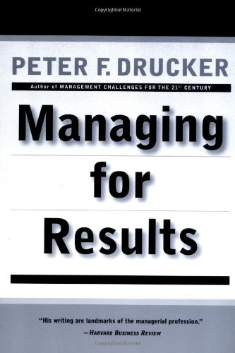 9780887306143: Managing for Results: Economic Tasks and Risk-Taking Decisions