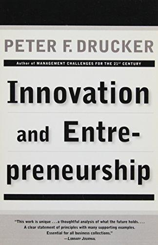 9780887306181: Innovation and Entrepreneurship