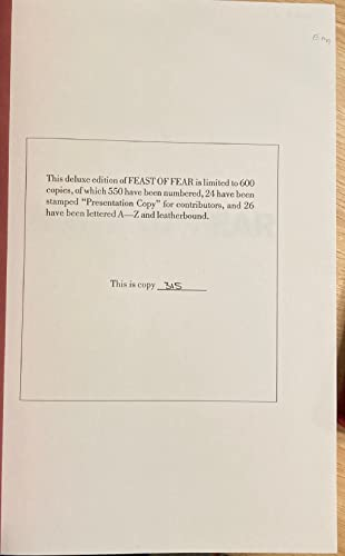 9780887330834: Feast of Fear: Conversations with Stephen King