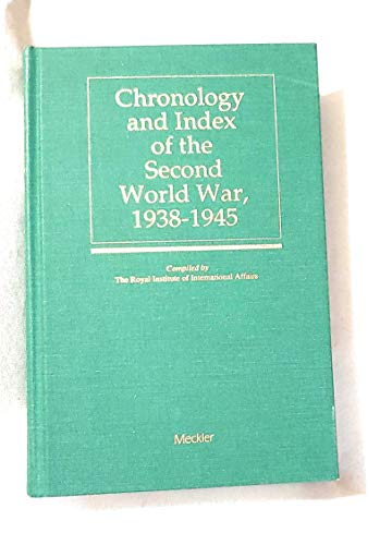 9780887365683: Chronology and Index of the Second World War, 1938-45