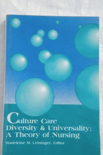 9780887375194: Culture Care Diversity and Universality: A Theory of Nursing