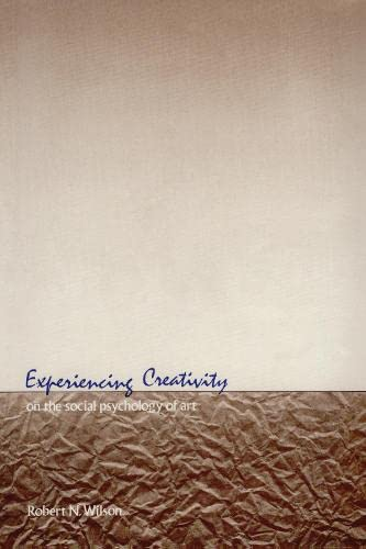 9780887380457: Experiencing Creativity: On the Social Psychology of Art