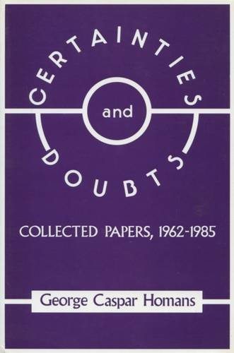 9780887381393: Certainties and Doubts: Collected Papers, 1962-85 (Collected Papers, 1962-1985)