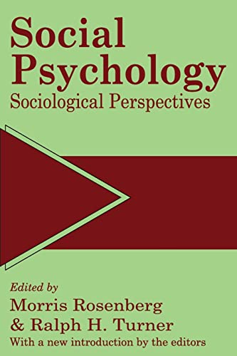 9780887388545: Social Psychology: Sociological Perspectives