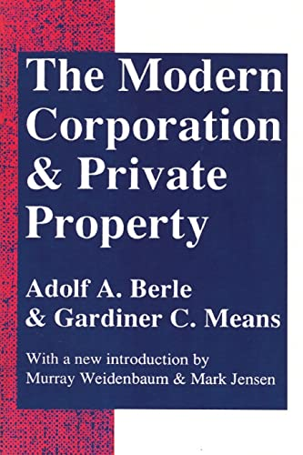 9780887388873: Modern Corporation and Private Property