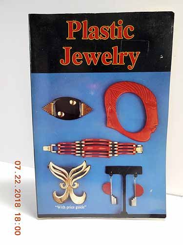 Plastic Jewelry 9780887401091 This classic reference to popular plastic jewelry has been enlarged for this new edition. Over 1000 examples and an informative text tell the success story of plastic jewelry from the 1920s through the present, including natural (tortoiseshell and horn) and synthetic (celluloid, Bakelite, Lucite, and more) plastics in a variety of styles. Includes original designs of bracelets, pins, necklaces, buttons, buckles, and others. Current value ranges are included.