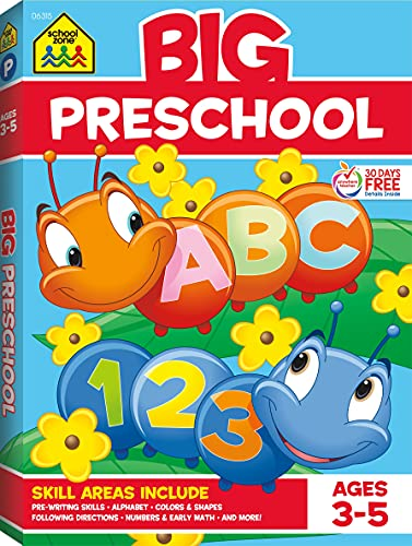 9780887431456: Big Preschool Workbook: Ages 3-5