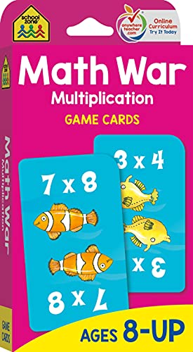 9780887432873: Multiplication War Game Cards, Ages 8-Up, math games, multiplication tables, third grade math standards, playful learning