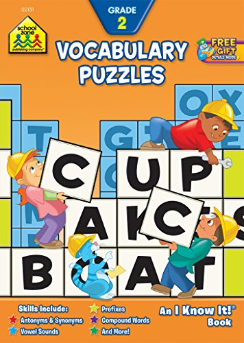 9780887437519: School Zone - Vocabulary Puzzles Workbook