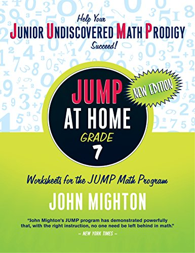 9780887849657: JUMP at Home, Grade 7: Worksheets for the JUMP Math Program (JUMP (Junior Undiscovered Math Prodigy))