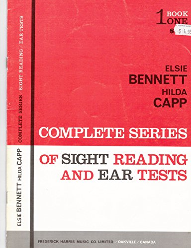 9780887970269: Complete Series of Sight Reading and Ear Tests, Book 1