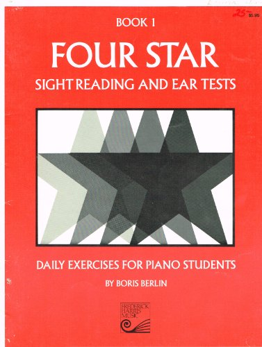 9780887972034: Four Star Sight Reading and Ear Tests, Book 1 (Daily Exercises for Piano Students)
