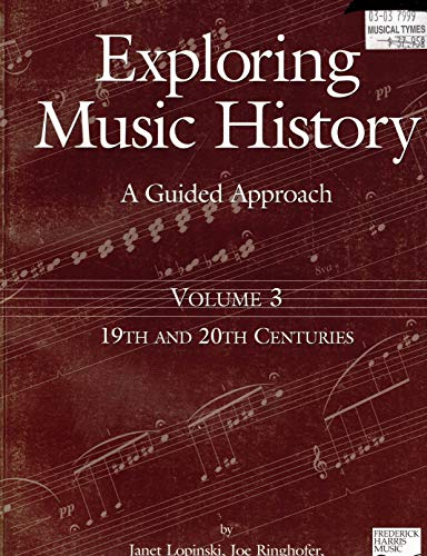 Volume 3: 19th and 20th Centuries: A: Janet Lopinski, Joe