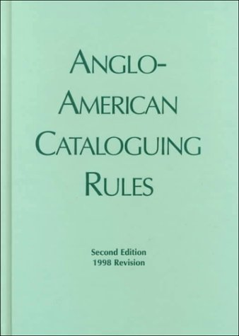 9780888022844: Anglo American Cataloguing Rules