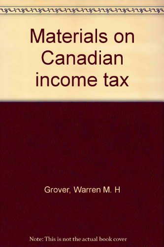 Materials on Canadian Income Tax