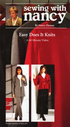9780888218810: Sewing with Nancy Easy Does It Knits [VHS]