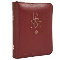 9780888348661: French Catholic Pocket Size Bible with Zipper - La Bible Français courant Catholique / Mini zip bourgogne