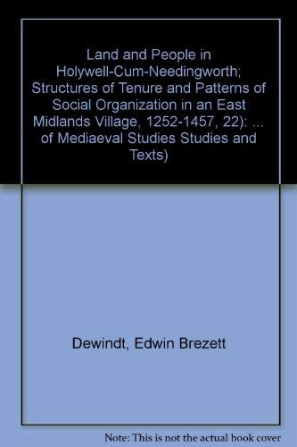 Land and People in Holywell-cum-Needingworth: Structures of Tenure and Patterns of Social ...