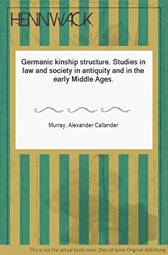 Germanic Kinship Structure (Studies and Texts)