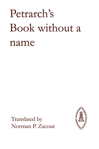 9780888442604: Petrarch's Book Without a Name