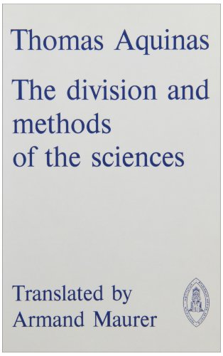 9780888442796: Thomas Aquinas: The Division and Methods of the Sciences (Mediaeval Sources in Translation)