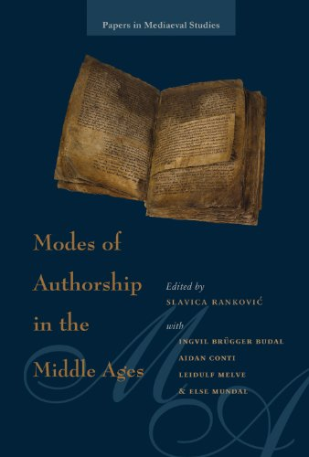 9780888448224: Modes of Authorship in the Middle Ages (Papers in Mediaeval Studies)