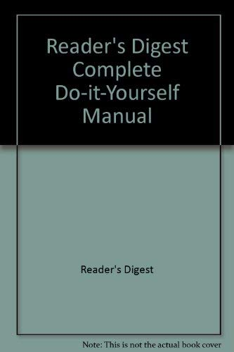 9780888500397: Reader's Digest Complete Do-it-Yourself Manual