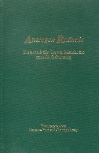 9780888642660: Analogon rationis : Festschrift fnr Gerwin Marahrens zum 65. Geburtstag by Ma...