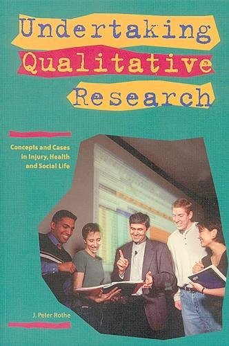 9780888643674: Undertaking Qualitative Research: Concepts and Cases in Injury, Health and Social Life