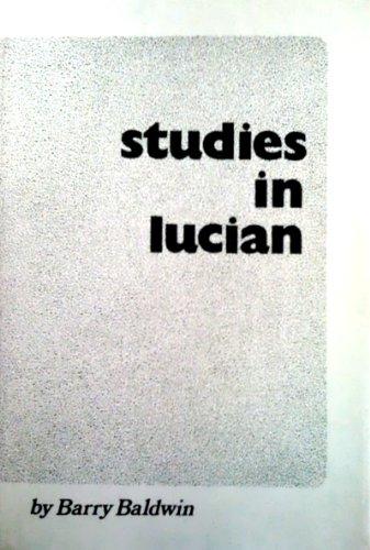 9780888665249: Studies In Lucian