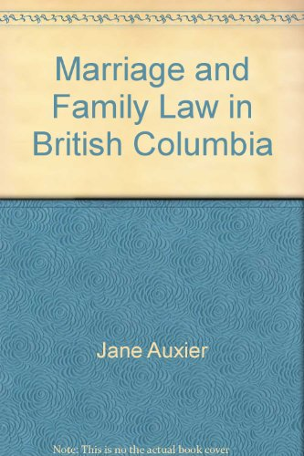 Marriage and Family Law in British Columbia: Jane Auxier
