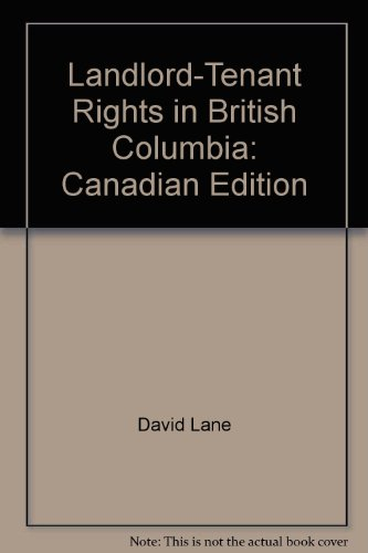 9780889084964: Landlord-Tenant Rights in British Columbia: Canadian Edition (Self-Counsel Legal Series)