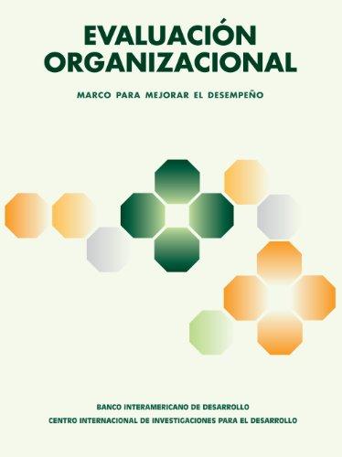 9780889369993: Evaluacion Organizacional: Un Marco Para Mejorar El Desempeno