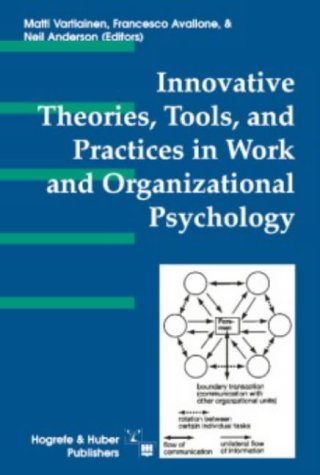 9780889372375: Innovative Theories, Tools, and Practices in Work and Organizational Psychology