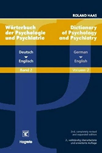 9780889373013: 2: Dictionary of Psychology and Psychiatry German - English: Worterbuch Der Psychologie Und Psychiatrie Deutsch Englisch (Dictionary of Psychology & Psychiatry) (German Edition)