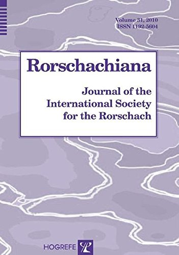 9780889373945: Rorschachiana, Vol. 31, Journal of the International Society for the Rorschach