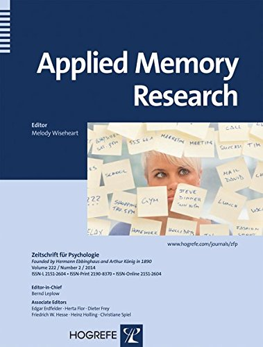 9780889374621: Applied Memory Research (Zeitschrift Fuer Psychologie)