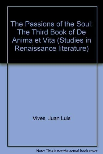 9780889461475: The Passions of the Soul: The Third Book of De Anima Et Vita