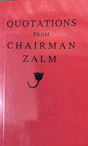 9780889782044: Quotations from Chairman Zalm