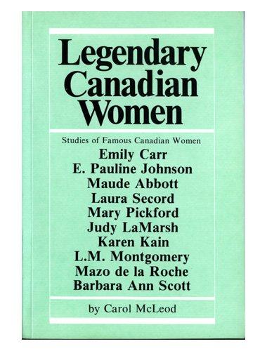 9780889992153: Legendary Canadian women
